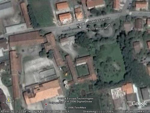 Galgagnano dal satellite